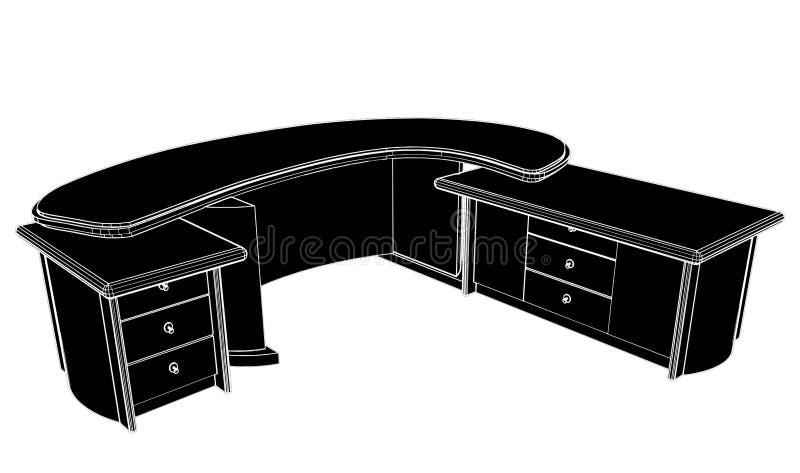 03 biurowy miejsca stołu wektoru działanie ilustracja wektor