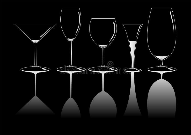 03 copos иллюстрация вектора