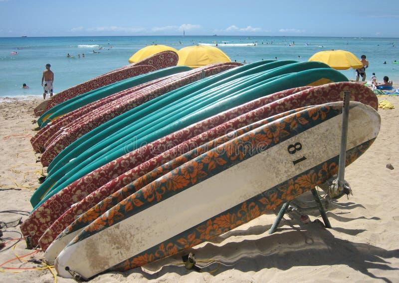 03 deski surfingowe Hawaii obraz royalty free