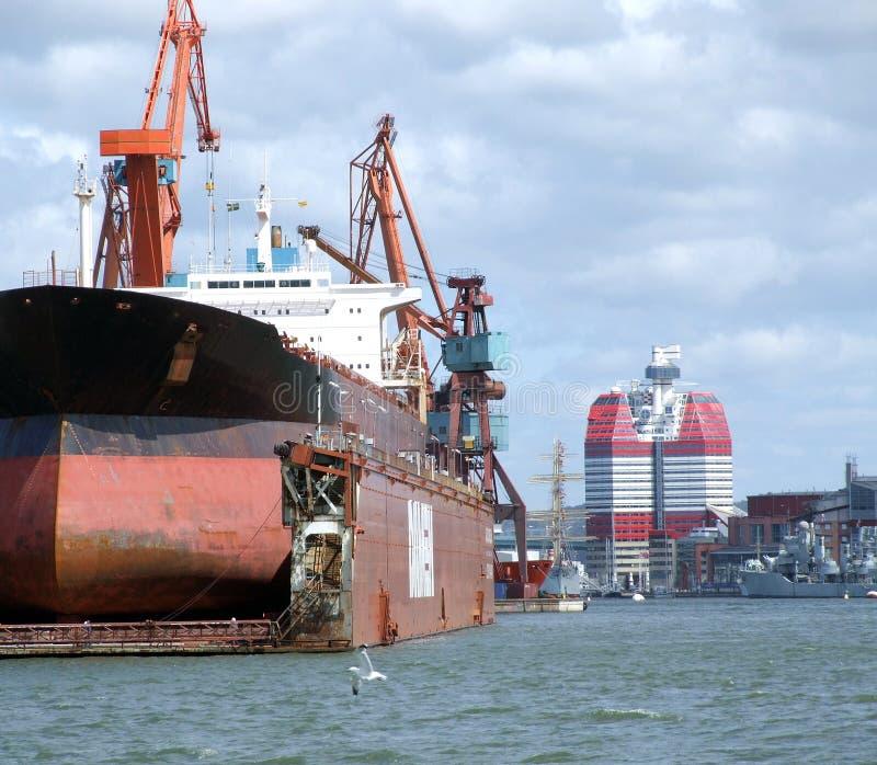 03 drydock gothenburg fotografering för bildbyråer