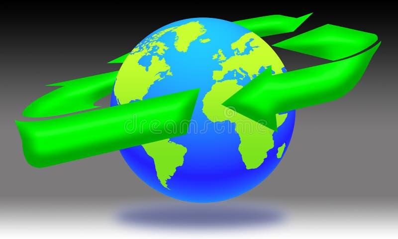 03 ekologia świat ilustracja wektor