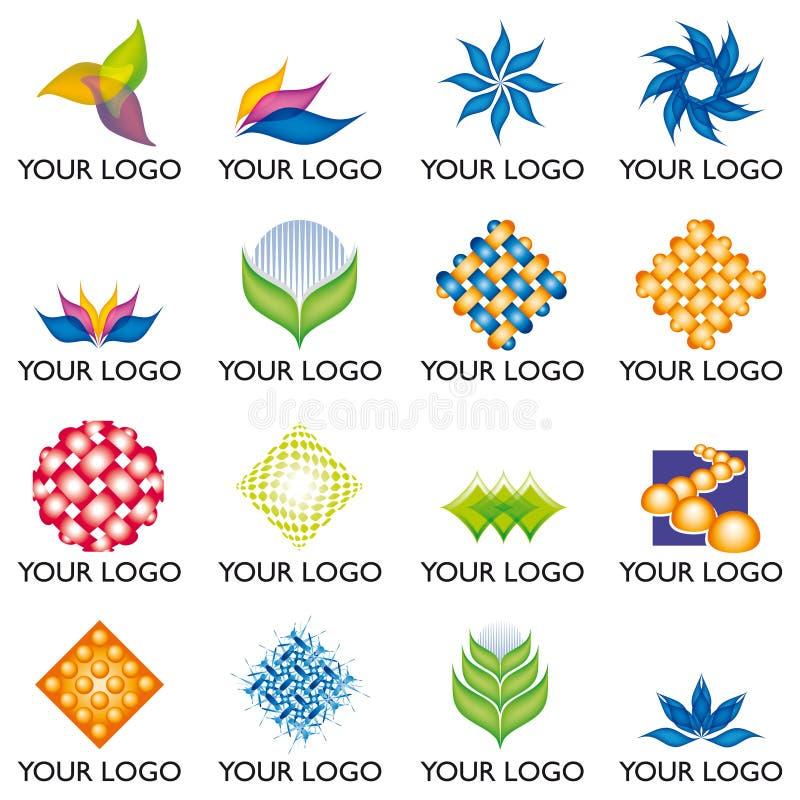 03 elementów logo ilustracja wektor