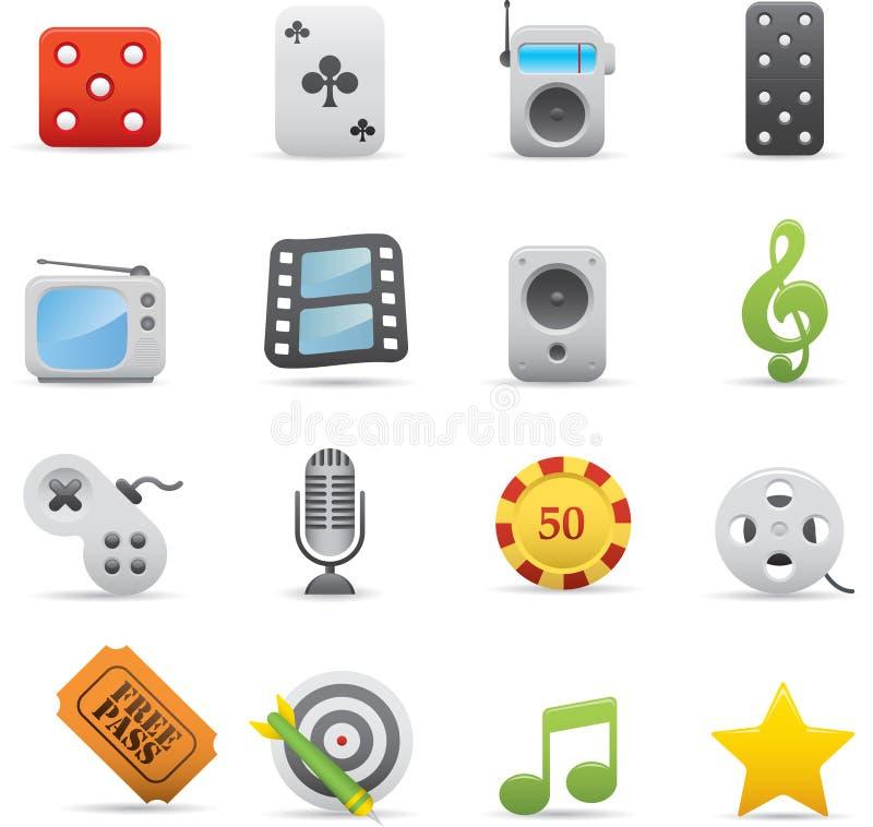 Free 03 Entertainment Icons Royalty Free Stock Image - 16904906