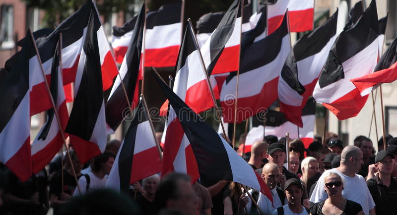 03 för dortmund germany för 11 demo neo sept nazi royaltyfria foton