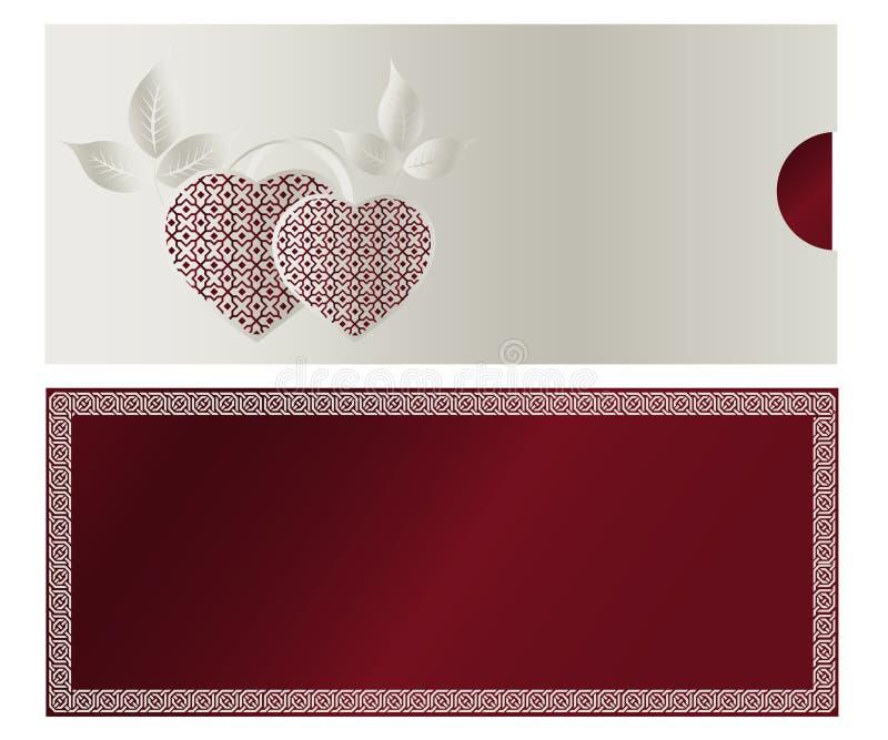03 karciany zaproszenie royalty ilustracja