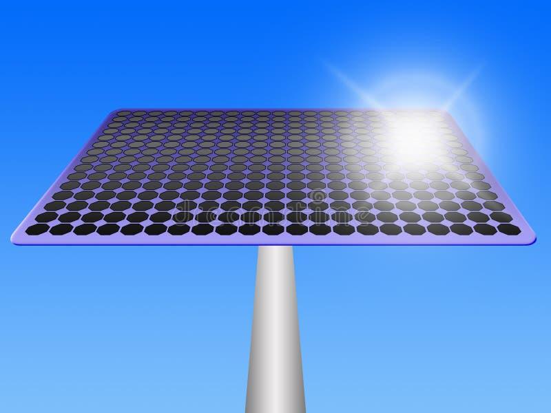 03 panneaux solaires illustration stock