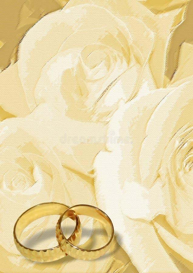03 pustych miejsc pozdrowienia ślub royalty ilustracja