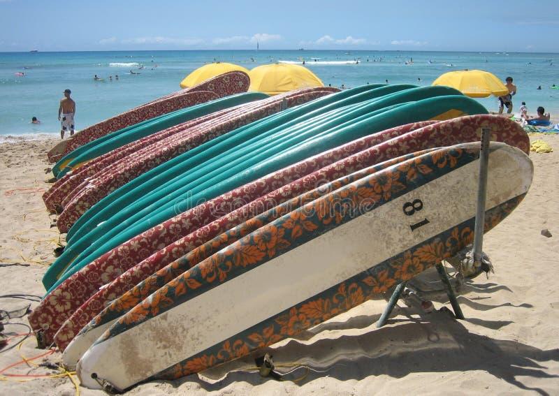 03 surfboards Гавайских островов стоковая фотография rf