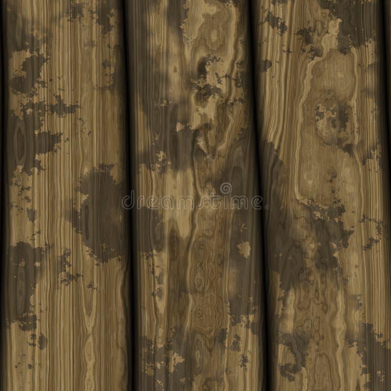 04个背景无缝的木头 库存例证