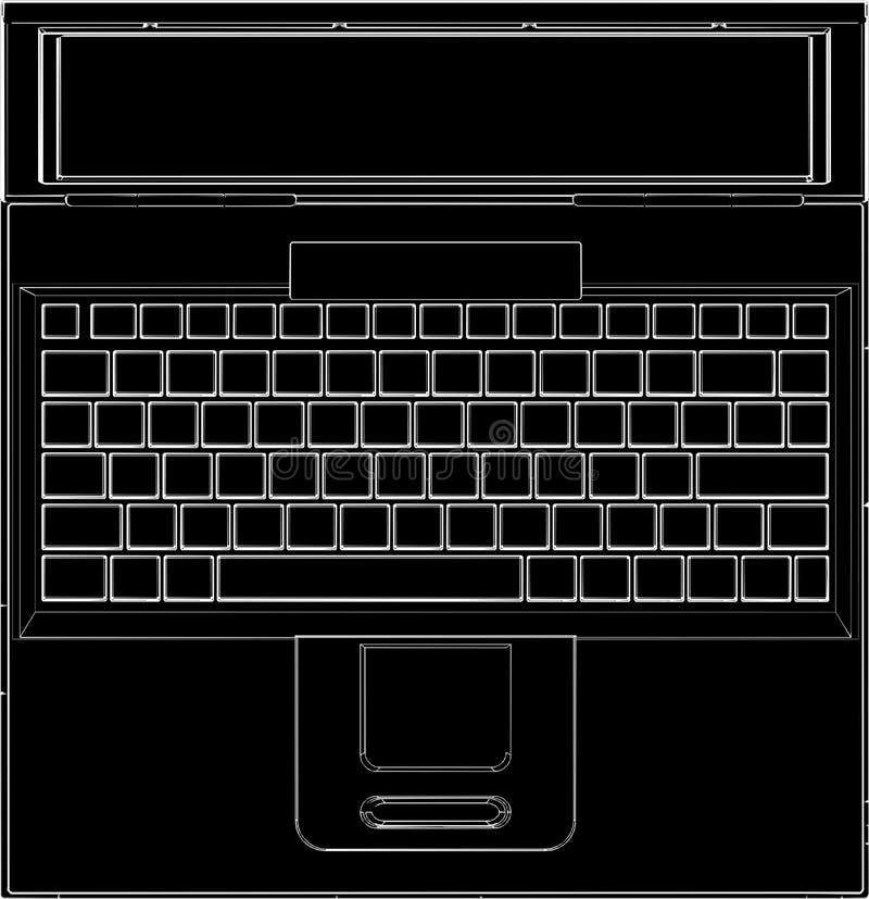 04台计算机膝上型计算机向量 库存例证