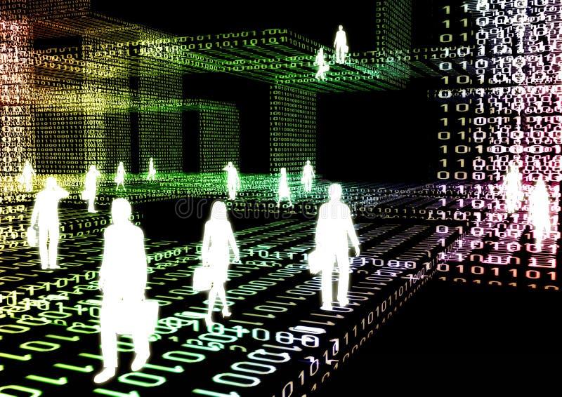 04虚拟的商业 向量例证