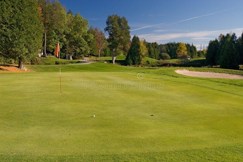 04高尔夫球视图 库存照片