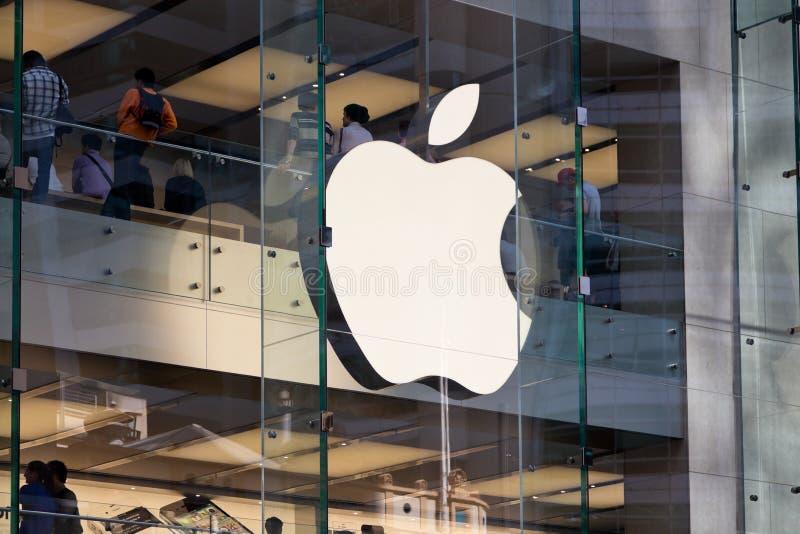 04 2011 komputer apple Nov sklep Sydney fotografia royalty free