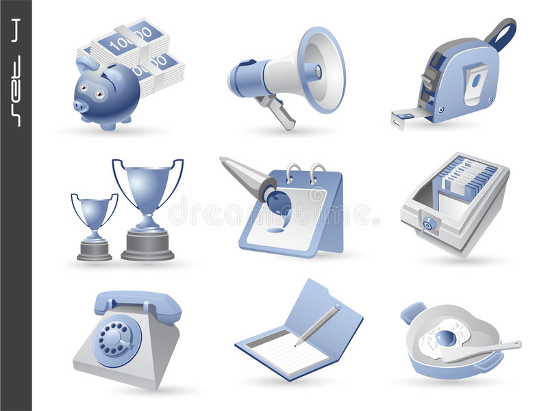 04 ikony 3d ustawiają ilustracja wektor
