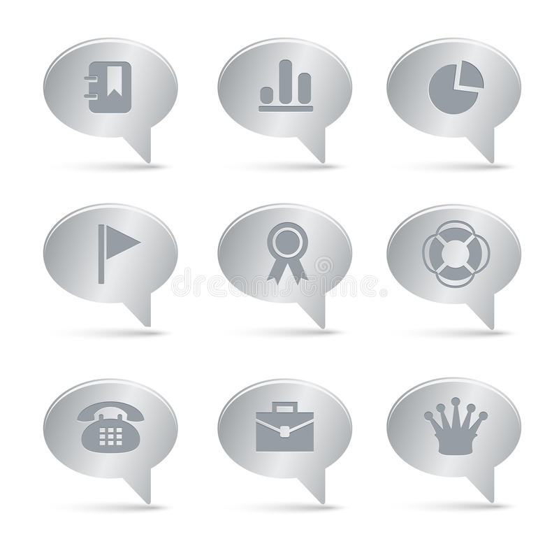 Download 04 Silver Bubbles Office Icons Stock Vector - Image: 16230380