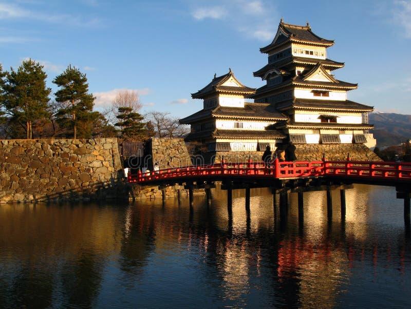 04 slott japan matsumoto arkivfoton