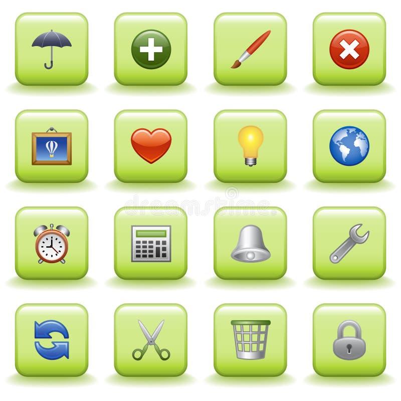 04 stylized symboler som ställs in royaltyfri illustrationer