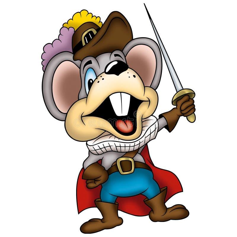 05个鼠标剑客 皇族释放例证