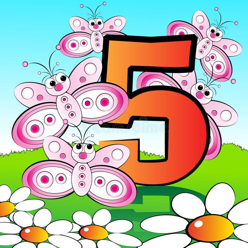 05 αριθμοί κατσικιών serie διανυσματική απεικόνιση