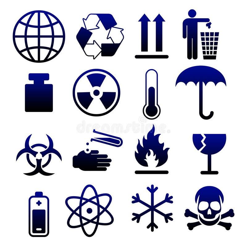 05 emballage symboler stock illustrationer