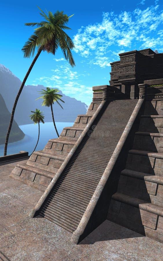 05 majowie świątynia ilustracja wektor
