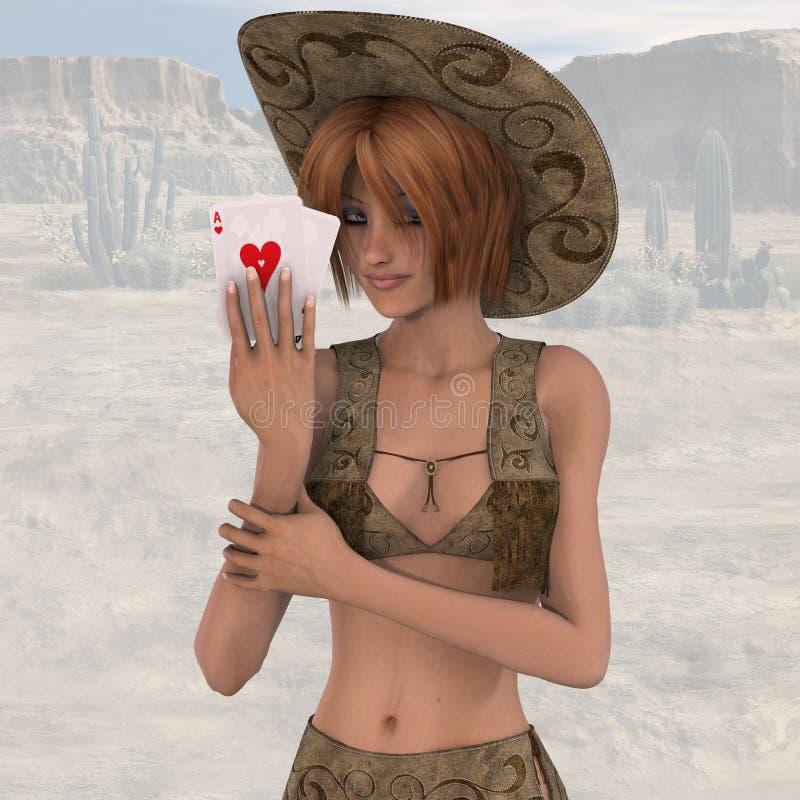 06 cowgirl ilustracja wektor