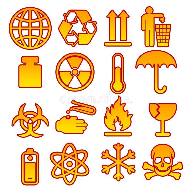 06 emballage symboler stock illustrationer
