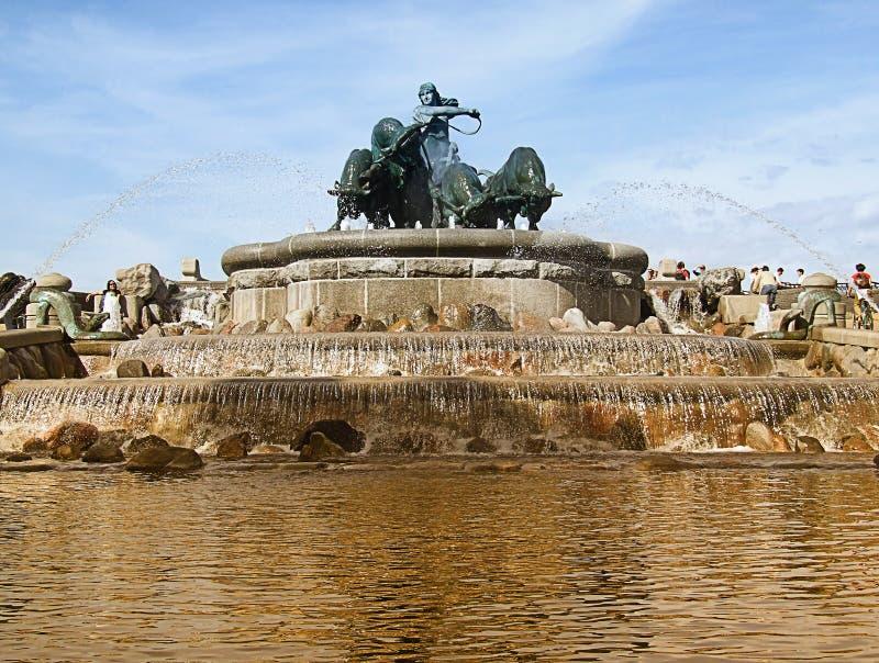 06 fontann gefion zdjęcia stock