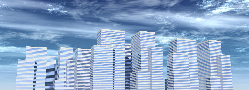 06 korporacyjnych budynków royalty ilustracja
