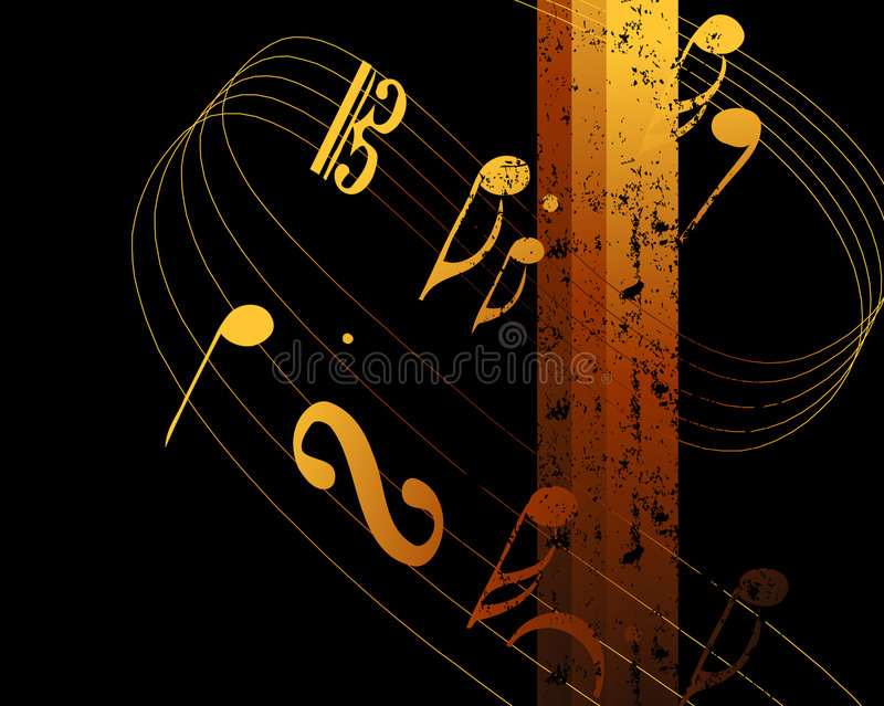 06 podkład muzyczny royalty ilustracja