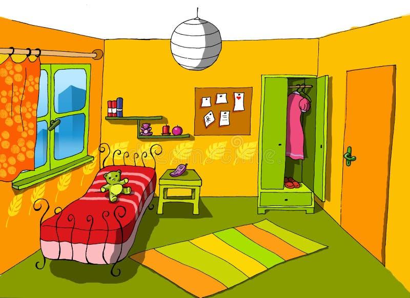 06 pokój tła nastolatków. ilustracji