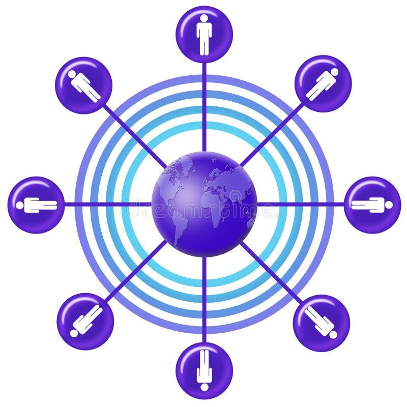 07个网络社交 向量例证