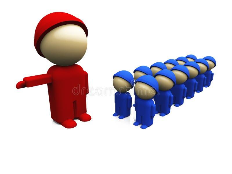 07 błękitny czerwieni małych żołnierzy ilustracja wektor