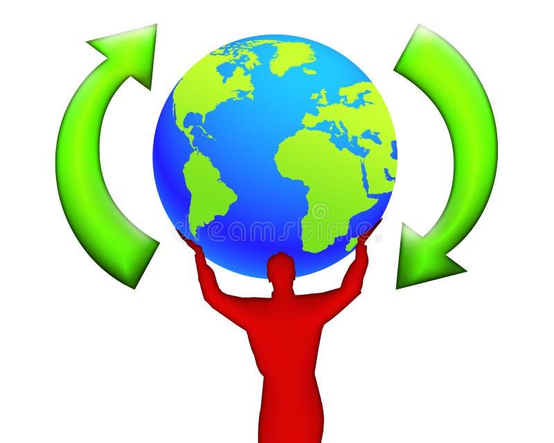 07 ekologia świat royalty ilustracja