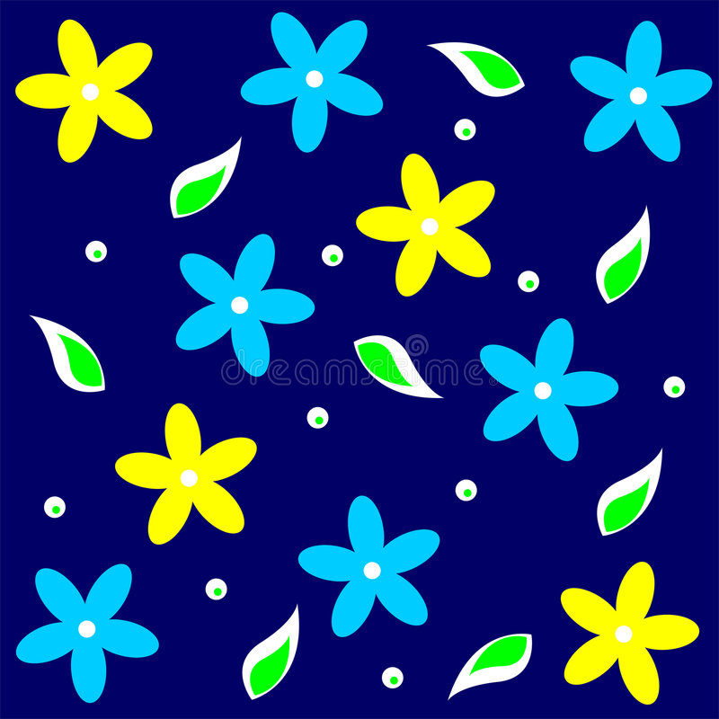 07 floral theme απεικόνιση αποθεμάτων