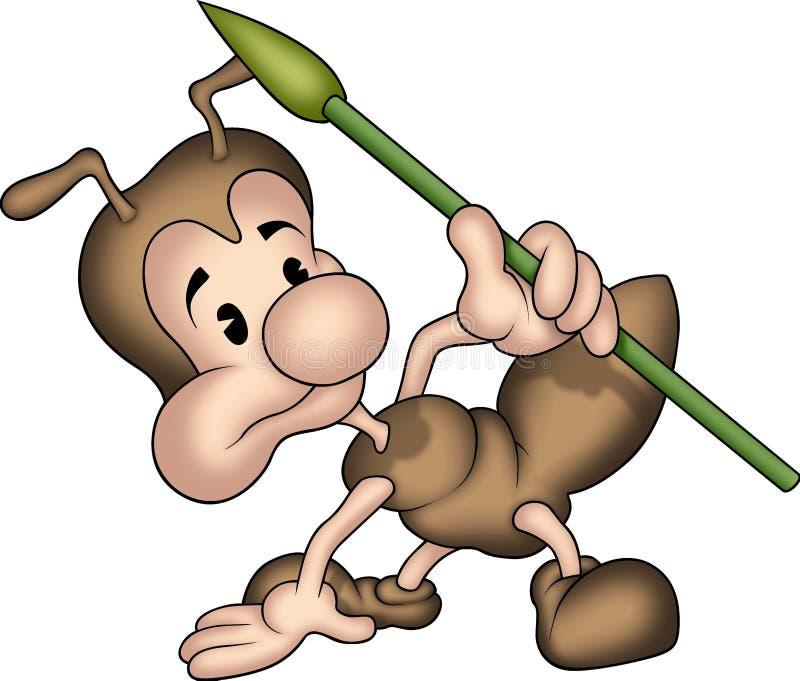 08蚂蚁少许矛 库存例证