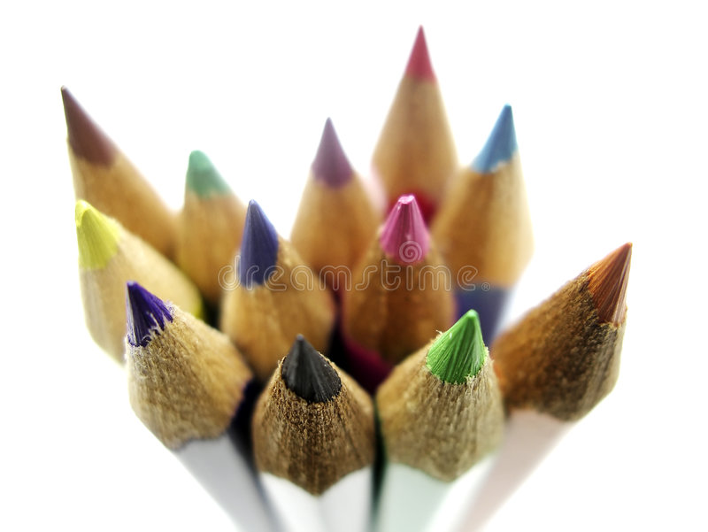 08 blyertspennor royaltyfri fotografi