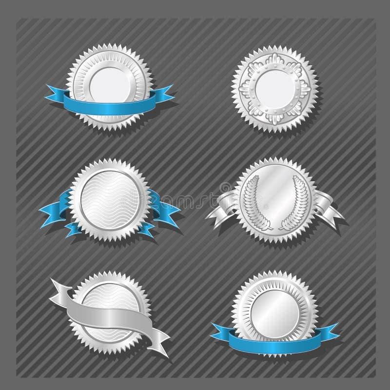 08 emblemsmedaljongserie royaltyfri illustrationer