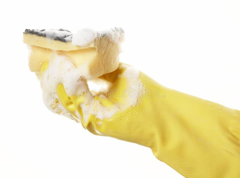 09副手套现有量橡胶 免版税库存图片