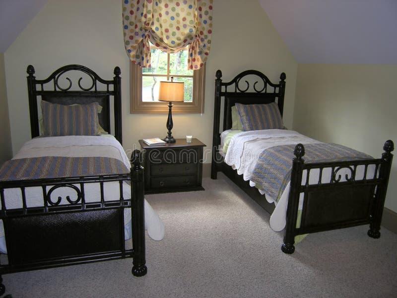 09 łóżek luksusu pokój zdjęcia stock