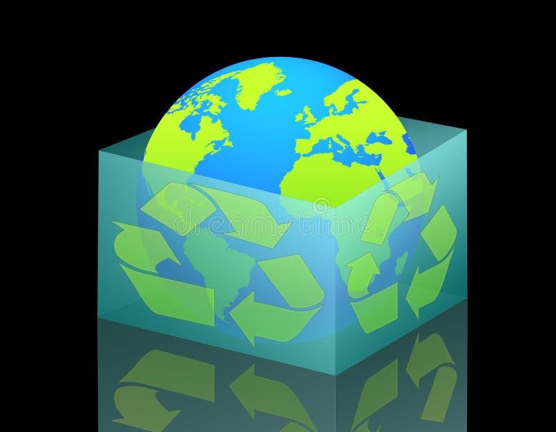 09 ekologia świat royalty ilustracja