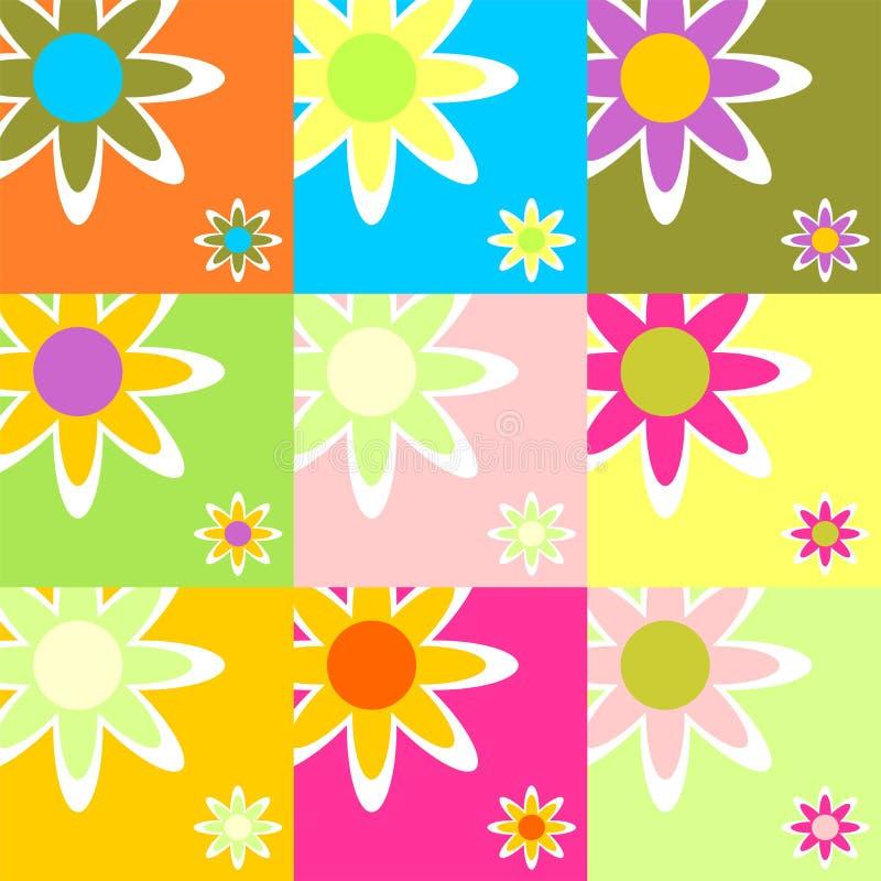 09 floral theme απεικόνιση αποθεμάτων