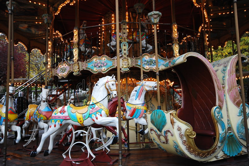 Download 0ld Carousel stock image. Image of centre, fair, lights - 3791475