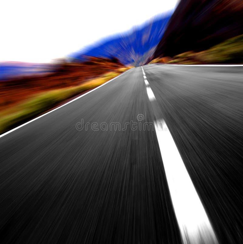 0n à grande vitesse la route photo stock