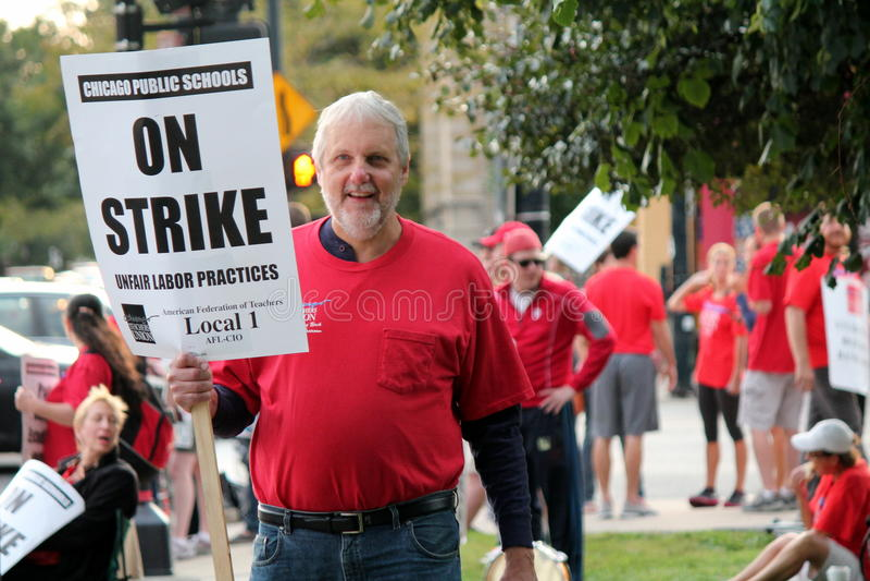 0n Strike Editorial Stock Image