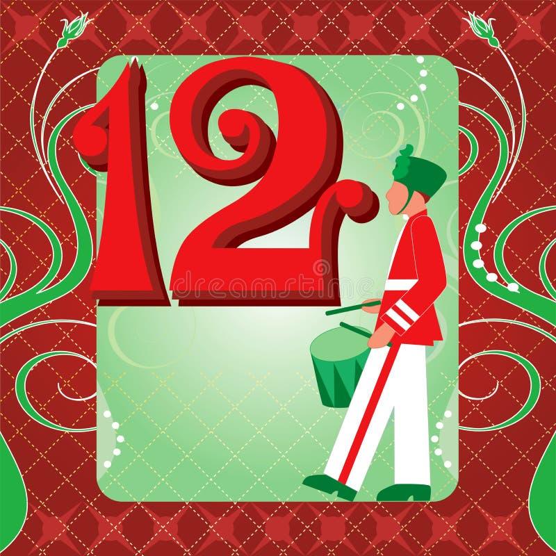 1ò Dia do Natal ilustração stock