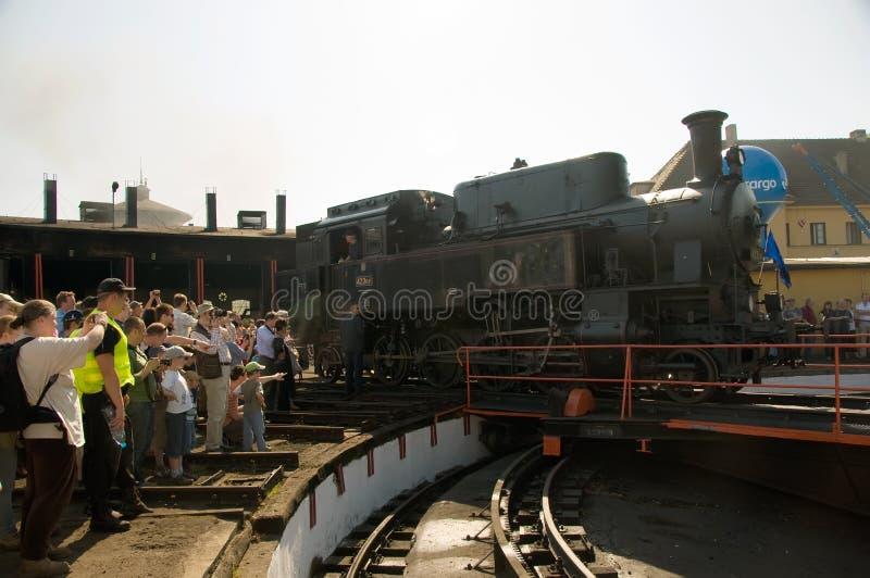 1õ Parada 2009 da locomotiva de vapor - trem 423 041 foto de stock