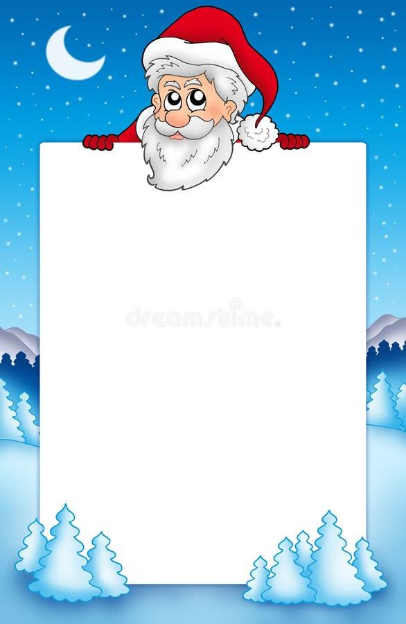 1个克劳斯框架潜伏的圣诞老人 库存照片