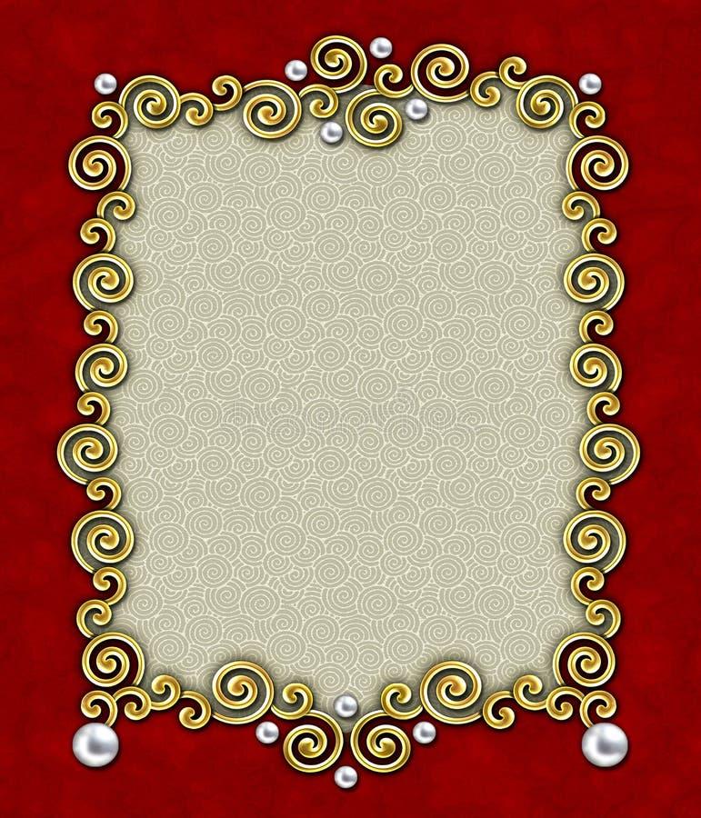 1个典雅的框架漩涡 库存图片