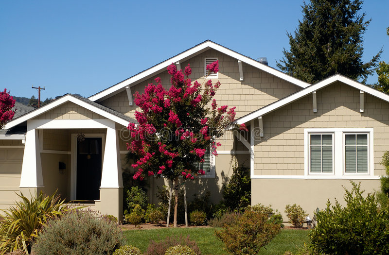 1个加利福尼亚房子 库存照片